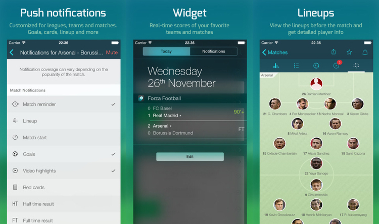 Forza Football Widget iOS